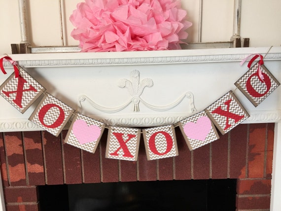 Valentines Day Garland Valentines Day Decorations Xoxo Sign