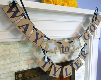 Graduation Party Decorations 2018 - Way to Go Banner - Graduation Banner - College/High School Graduation - You Pick the Colors