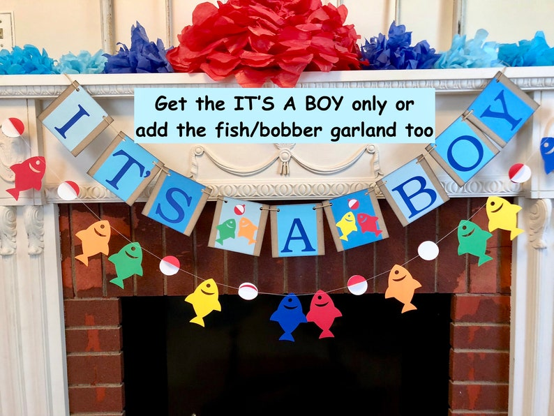 Fishing Baby Shower Decorations Gone Fishing Its A Boy Etsy
