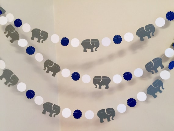 Navy Baby Shower Navy Elephant Decor Elephant Birthday Party Elephant Baby Shower Navy and Grey Elephant Confetti Boy Baby Shower
