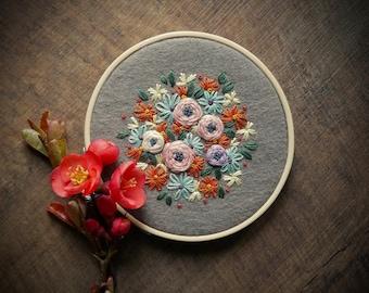 Embroidery Hoop Art ø Wall Art ø Home Decor ø Hand Embroidered ø LoftFullOfGoodies ø Housewarming Gift