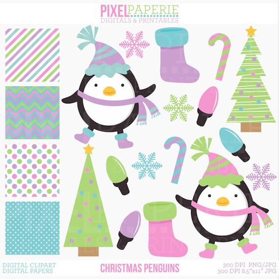 penguin christmas clipart clip art digital tree snowflake etsy rh etsy com etsy clip art floral etsy clip art easter