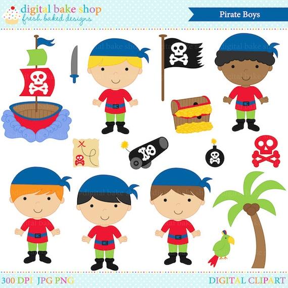 Pirates Clipart Digital Clip Art Boys Pirate Boys Clip Art Etsy