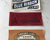 Set of 3 Vintage Cigar Box Labels