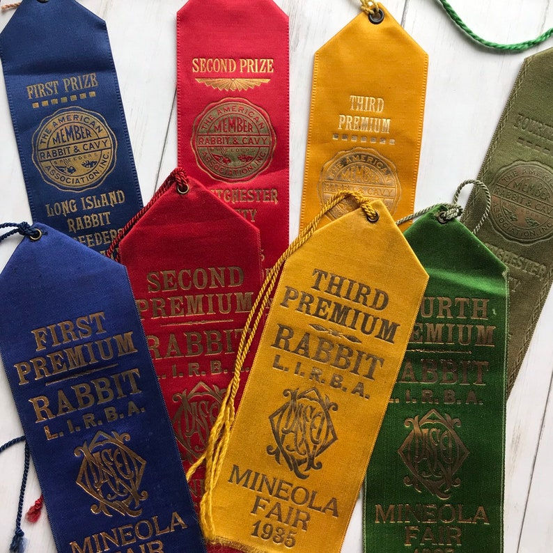 Vintage 1930s Rabbit Show Ribbons from New York