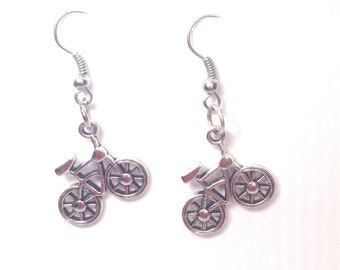 Bicycle Earrings, Ready to Ship, Mothers Day gift