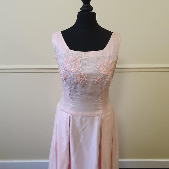 1950s pink formal prom dress vintage - image 5
