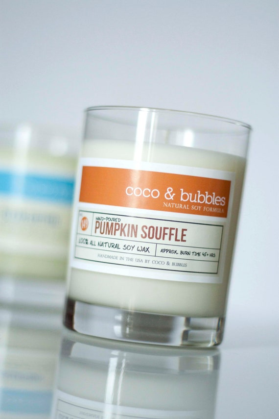 Pumpkin Spice Scented Soy Candles Handmade in the USA.