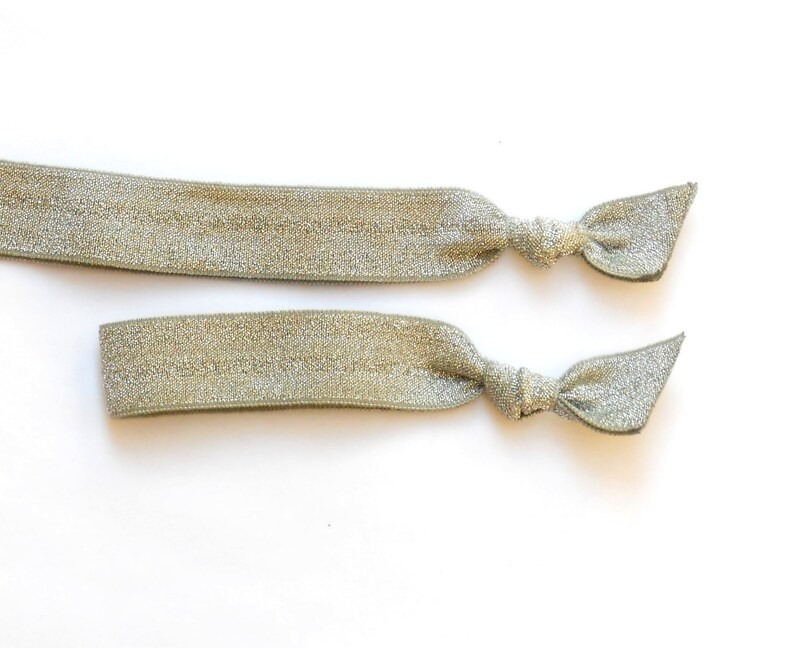 SILVER SPARKLE  1 Headband and 1 Comfort Elastic Hair Tie  image 0