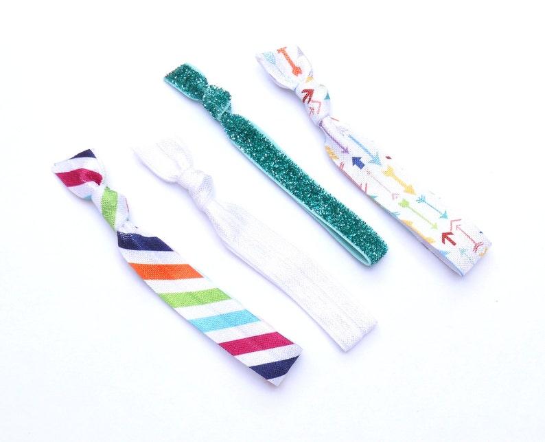 LA DEE DA  4 Comfort Elastic Hair Ties / Bands / Bracelets / image 0