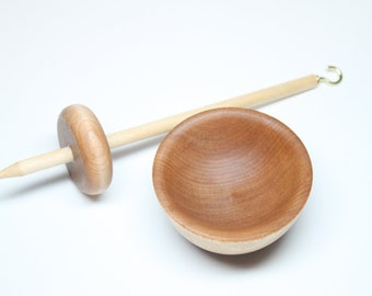 Mini Supported Drop Spindle Spinning Set - Beginner's Dream