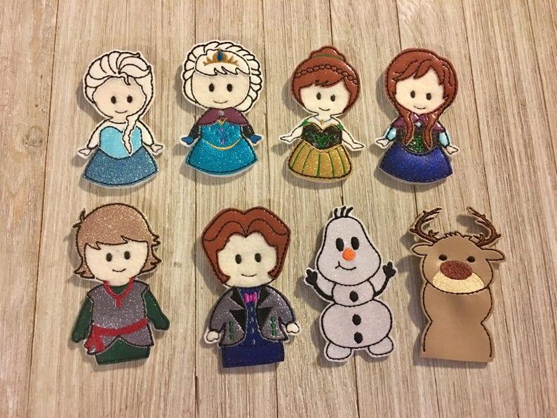 Frozen friends insprired finger puppet set