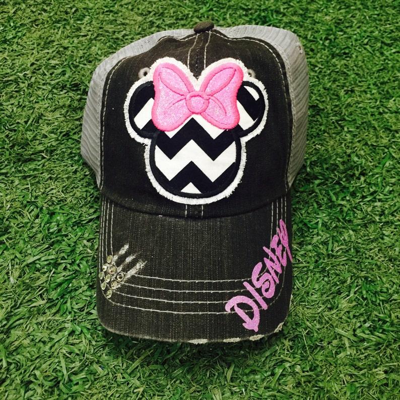 de62a524a2d67 Minnie Mouse Disneyland Disney World Baseball Bling Ladies