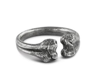 Femur Bone Ring - Antique Silver Femur Bone Ring