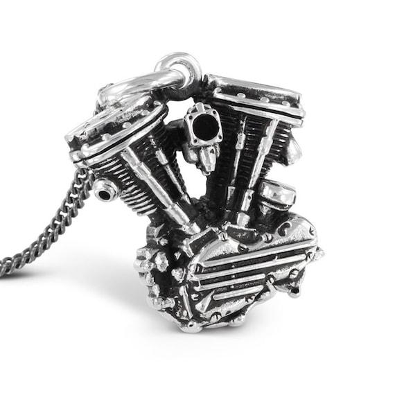 DETAILED BRASS BIKER MEN/'S RING HARLEY ENGINE SHOVELHEAD V-TWIN PANHEAD SIZE 11
