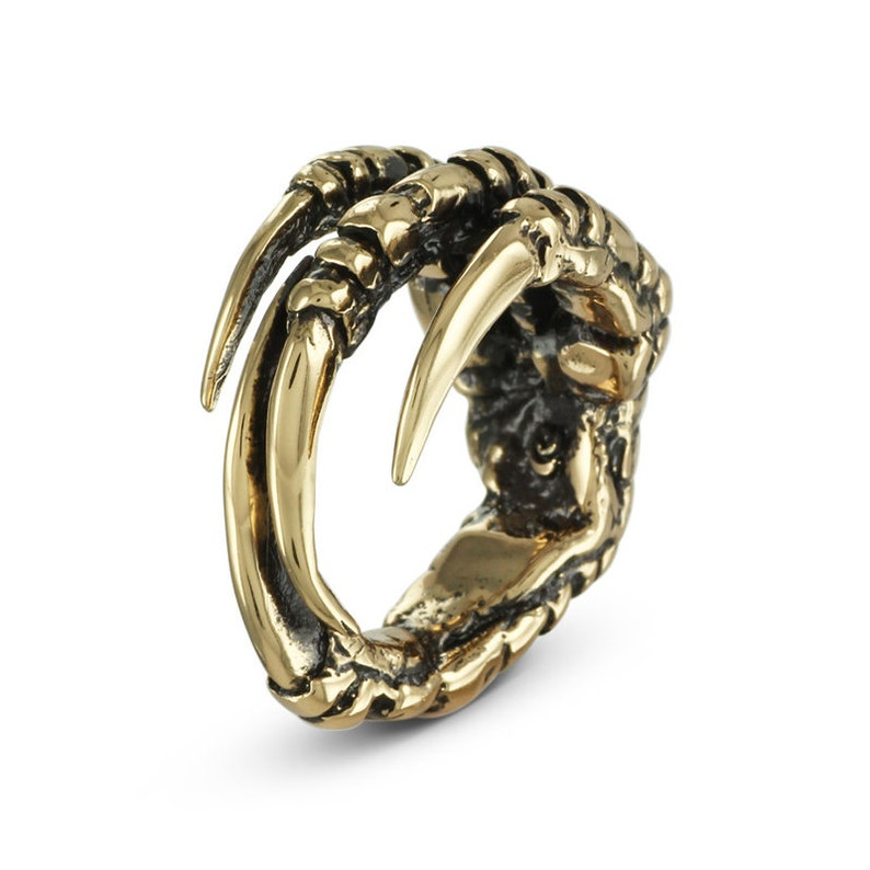 Crow Claw Ring  Bronze Bird Claw Ring  Raven Claw Ring image 0