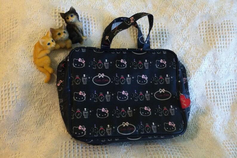 e82cb0866 Hello Kitty Handbag Sanrio Vintage Pink White Black Vinyl | Etsy