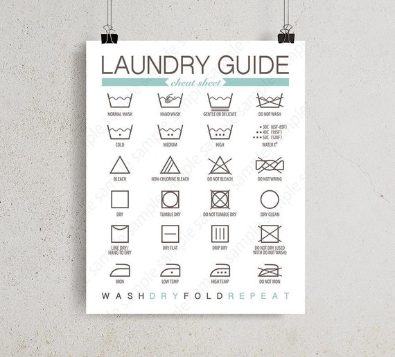 picture relating to Printable Guide named Printable Laundry advisor for Laundry Space decor, 8x10 11x14 11x17 Washing treatment Directions electronic wall artwork print, Prompt Obtain poster