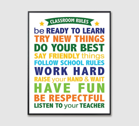 image relating to Classroom Rules Printable identify Clroom Tips printable wall artwork, Trainer printables, electronic obtain poster for cl decoration, university small children legislation signal