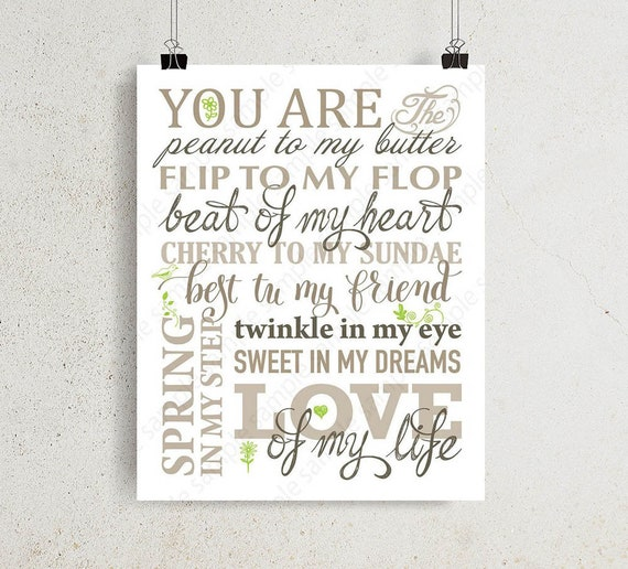 Family Rules Sign You Are The Peanut To My Butter Printable Etsy