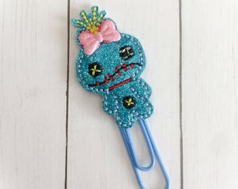 Scrumpy Doll bookmark clip vinyl - party favor - bookmark - childrens gift - princess - planner - hairclip - paperclip - pencil top