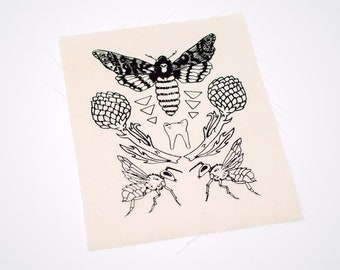 Moth Tooth Sew On Punk Patch
