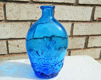 Rose Collectible bottle flower electric Blue decanter,Home Living,Outdoor Gardening,Garden Decoration,decanter,home decor,stage props,rose