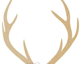 Wooden Antler Shape Style1   Wooden Antlers, Deer Antlers, Antler Wall Decor,  Woooden Antler Decor, Deer Antler Decor