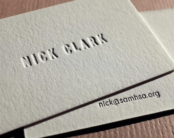 The Requisite Card – Custom Letterpress Printed Calling Cards