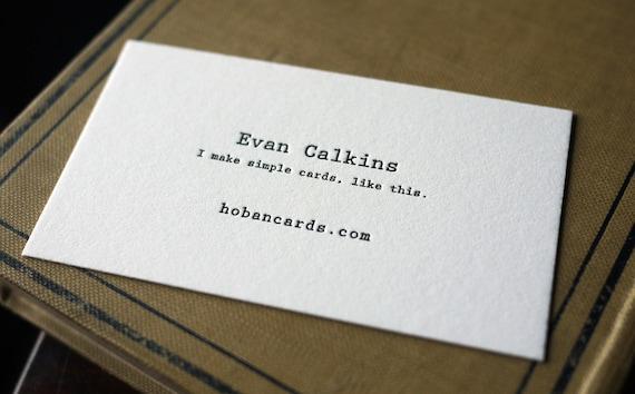 The typewriter custom letterpress printed calling cards etsy image 0 colourmoves