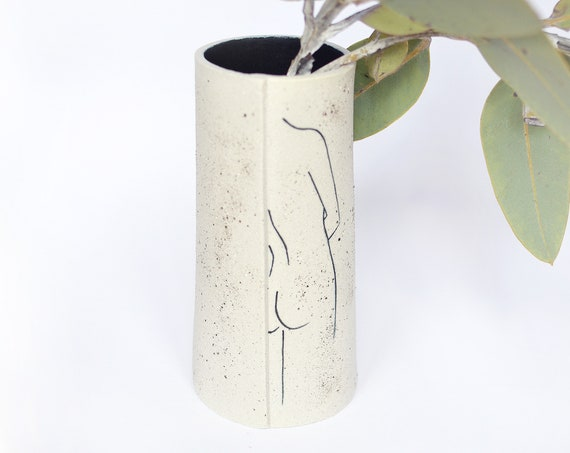 "SHE STANDS Ceramic Vase | Vessel | Utensil Holder | 18cm (7"") tall"