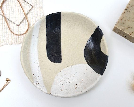 "MINERAL  Hand painted Ceramic Dish | Jewellery Dish | 15cm (6"")"