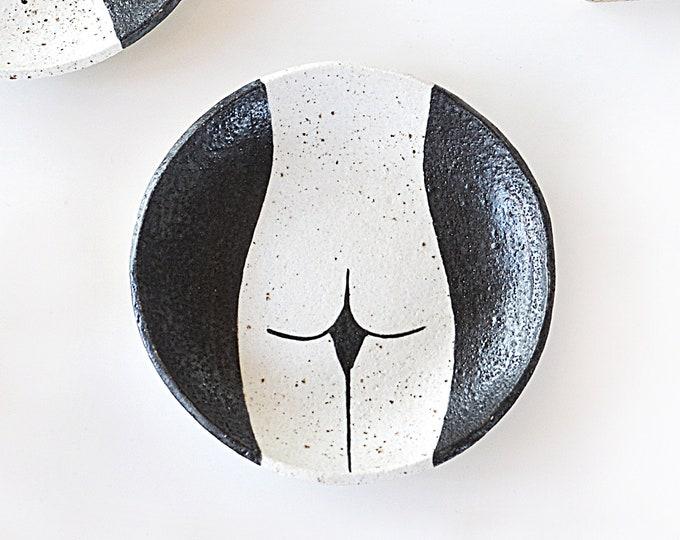 "BEHIND  Hand painted Ceramic Dish | Condiment Dish | Ring Dish | 15cm (6"")"