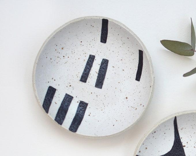 "DASH Hand painted Ceramic Dish | Condiment Dish | Ring Dish | 12.5cm (5"")"