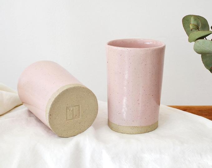 Pink Ceramic Tumbler | Latte Cup | Tea Cup
