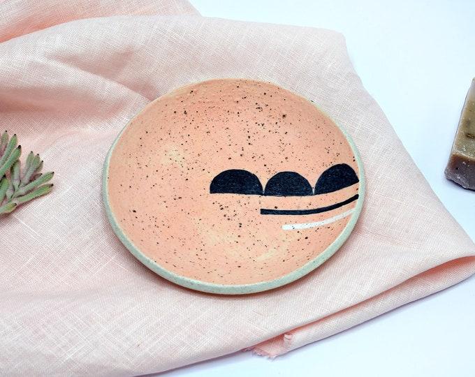 "SEMI STATE  Hand painted Ceramic Dish | Condiment Dish | Ring Dish | 15cm (6"")"