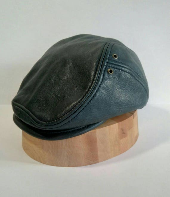 Leather flatcap Cobra  f51388f1a21