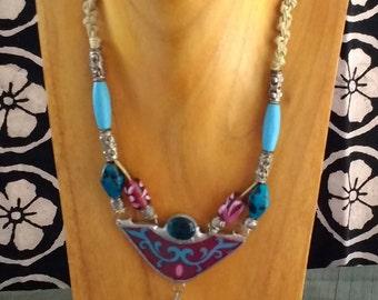 Fleur 2 Soldered Glass Necklace