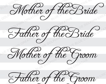 parents of the bride and groom svg pdf png digital cutting files for cricut design space diy htv vinyl cutting files wedding svg file
