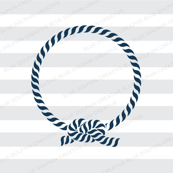 Nautical Rope Monogram Frame Svg Png Pdf Jpg Jpeg Ai Dxf Etsy