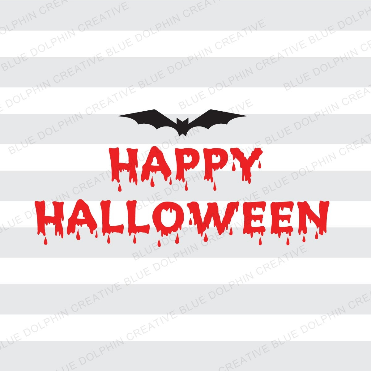 happy halloween dripping letters and bat svg dxf png pdf jpg | etsy