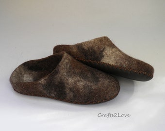 Felted Slippers For Woman Felt Slippers Felted Wool Slippers Etsy
