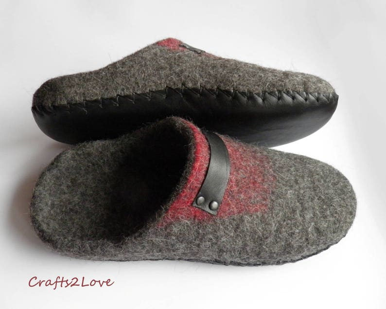 1fbdbf450852f Felt slippers with soles Felted slippers for women Wool slide slippers  Minimalist Natural Gift for her