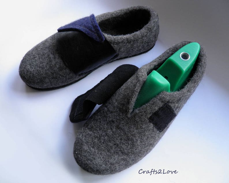 bdd9988af4a89 Felt boots Felted shoes Wool Slippers with soles Outdoor felt shoes with  soles Eco Mens felted slippers Vegetarian shoes US men 10.5 RTS