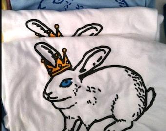 T-shirt, assorted animal designs, fish, rat, bunny, octopus, hummingbird