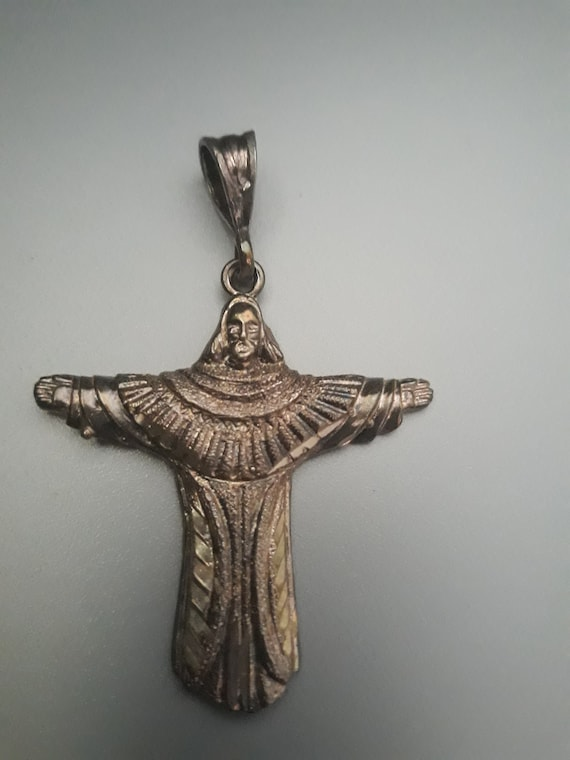925 Sterling Silver Jesus Pendant