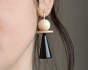 Lucite cone earrings