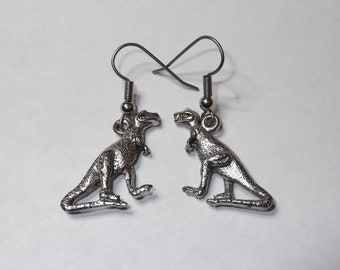 Gorgeous Geekery T-Rex Earrings - Dinosaur, Paleo, Science, Carnivore, Tyrannosaurus, Paleontology, Fossil, Cretaceous - Great Gift!