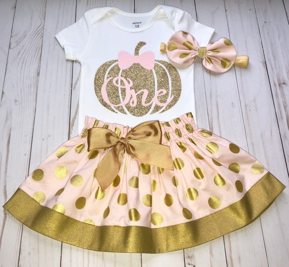 Pumpkin Smash Cake: Pumpkin First Birthday Outfit Cake Smash Outfit Pink And