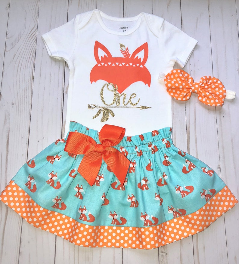 6fcc6c610 Wild One Fox First Birthday Outfit Cake Smash Outfit Baby